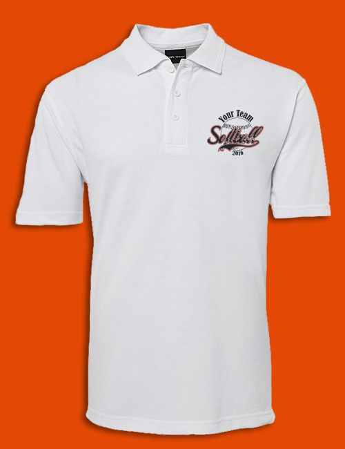 Custom Softball Polo