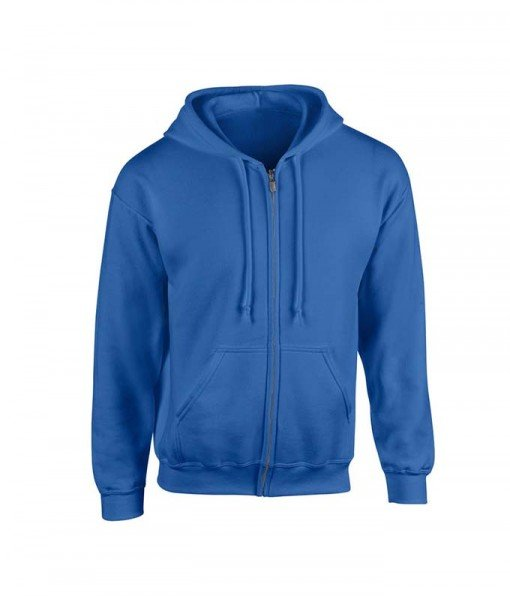Blue Hoodie with Zipper