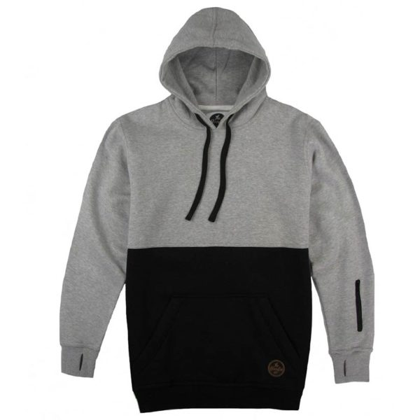 Custom-hoodie-split- grey-black
