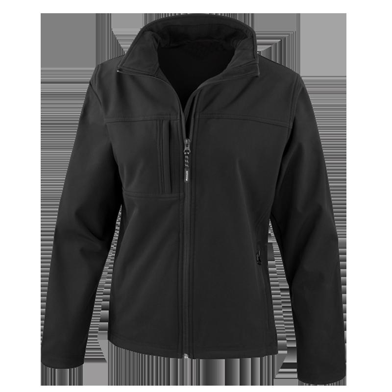Custom Printed Womens Jacket Black Uniform
