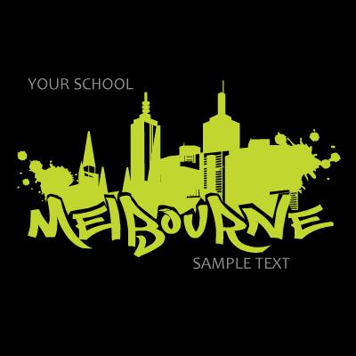 Melbourne hoodie print design v2