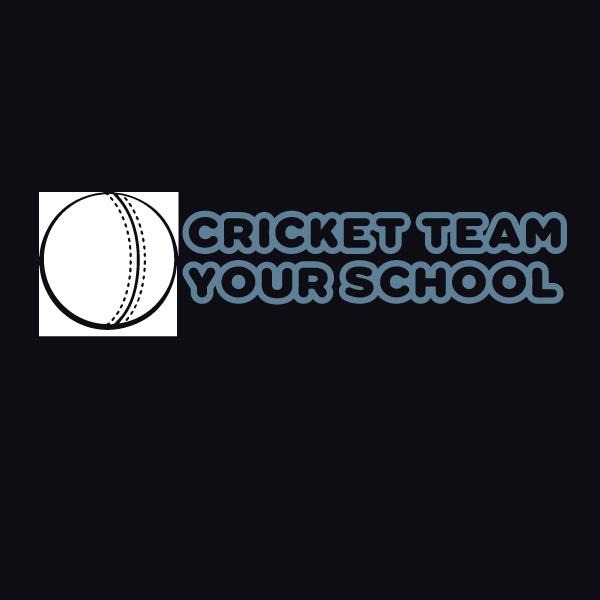 Cricket team hoodie print
